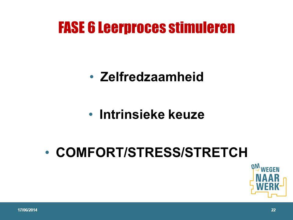 FASE 6 Leerproces stimuleren