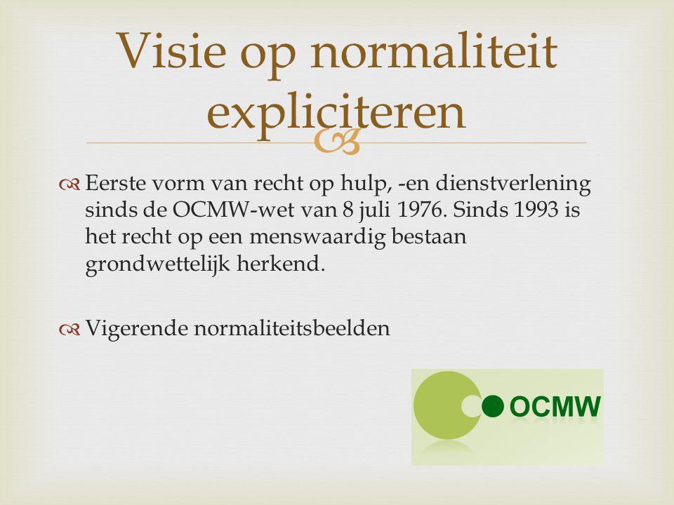 Visie op normaliteit expliciteren