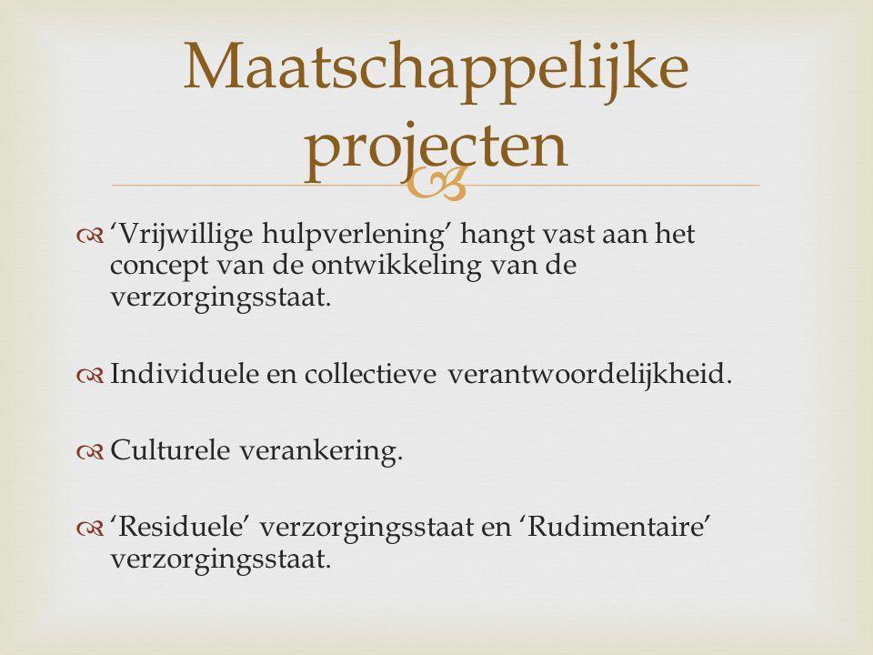 Maatschappelijke projecten