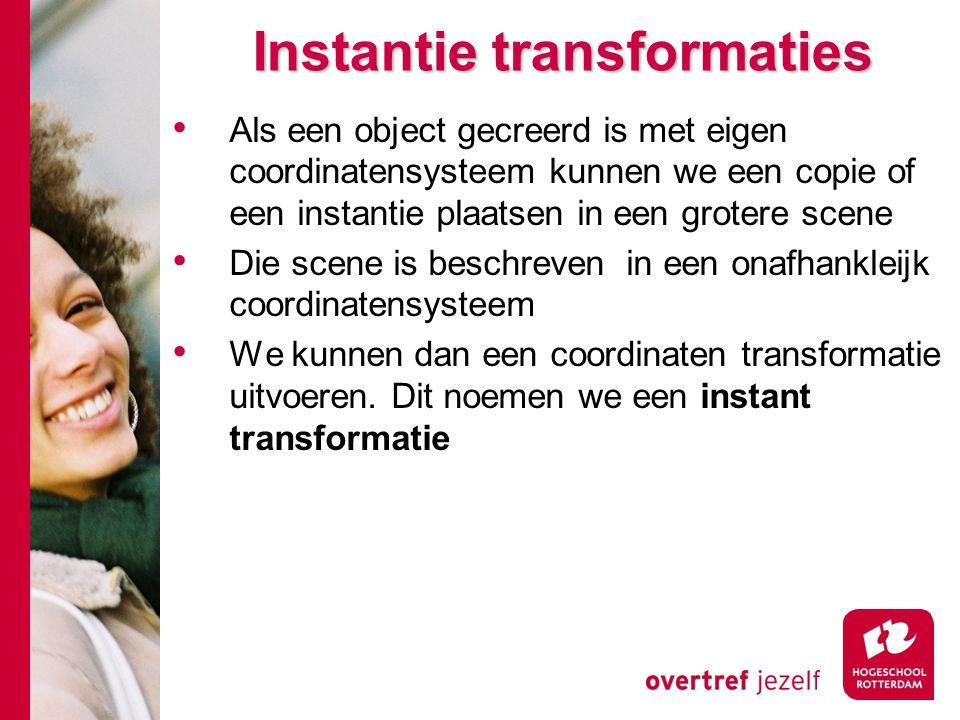 Instantie transformaties