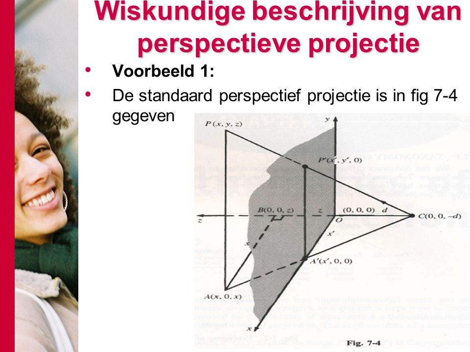 Wiskundige beschrijving van perspectieve projectie