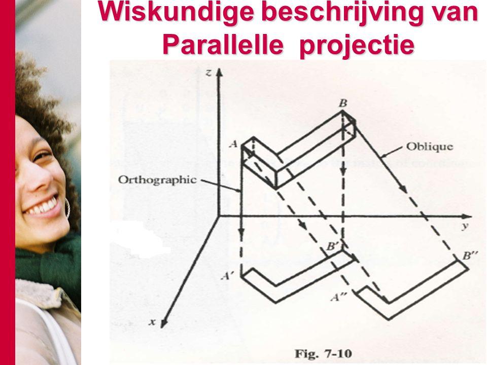 Wiskundige beschrijving van Parallelle projectie