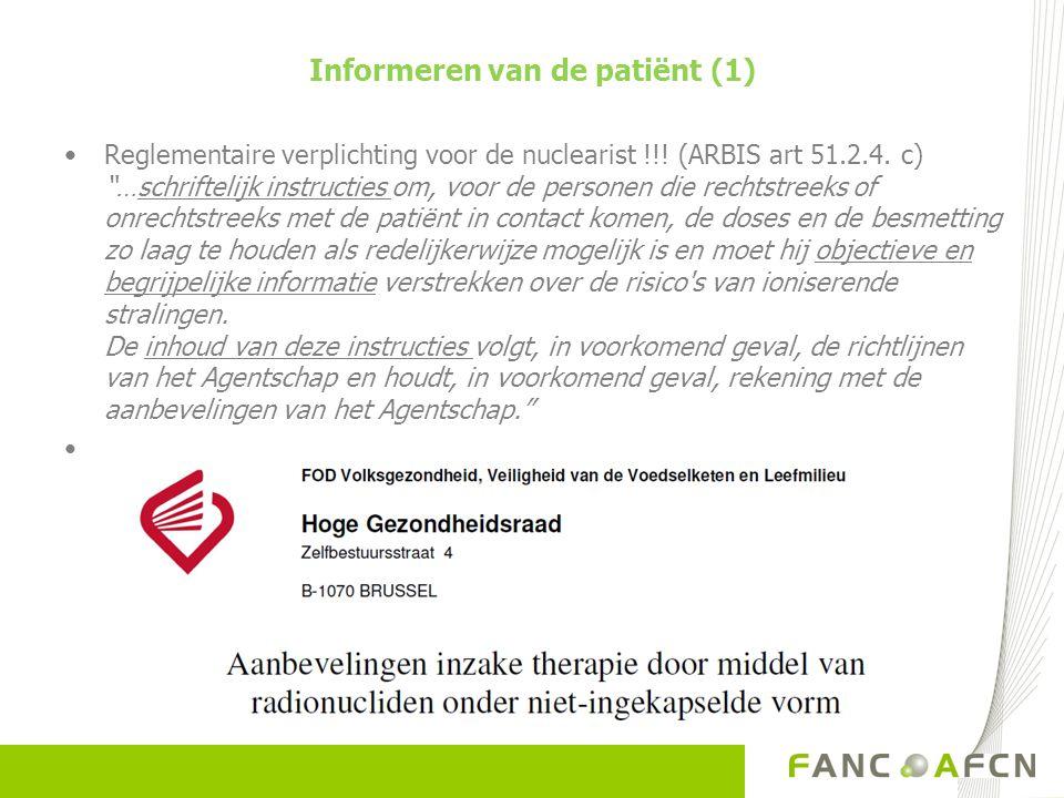Informeren van de patiënt (1)