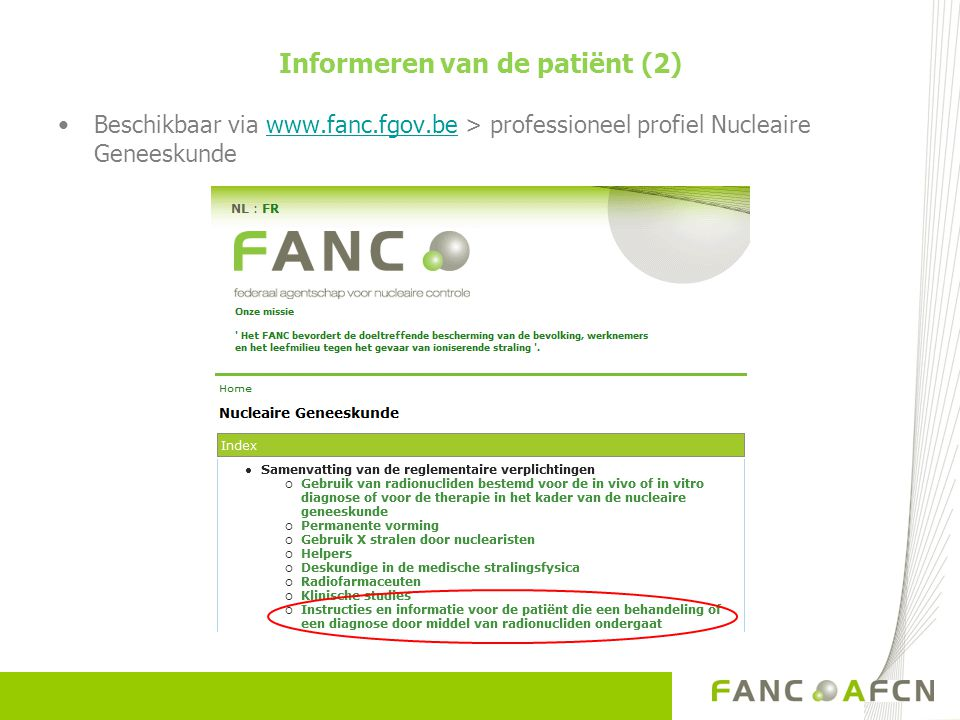 Informeren van de patiënt (2)