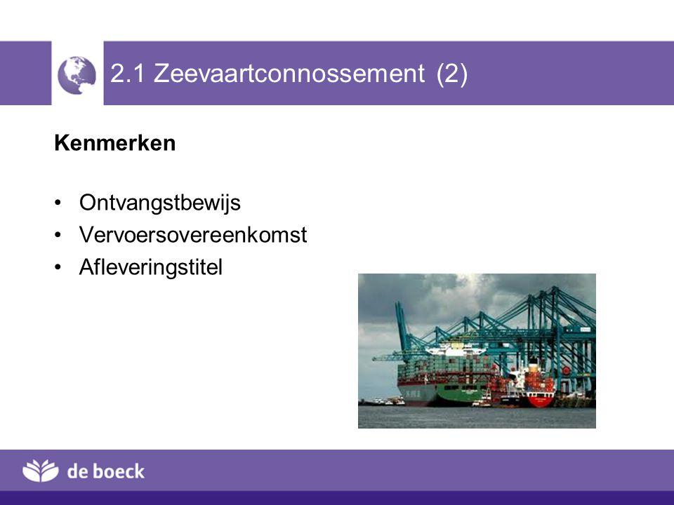 2.1 Zeevaartconnossement (2)