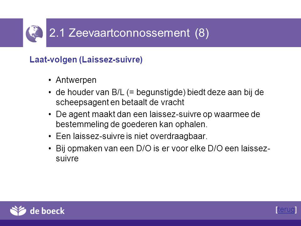 2.1 Zeevaartconnossement (8)