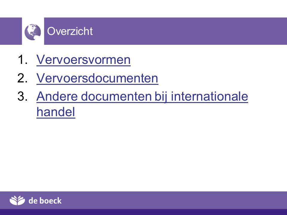 Andere documenten bij internationale handel