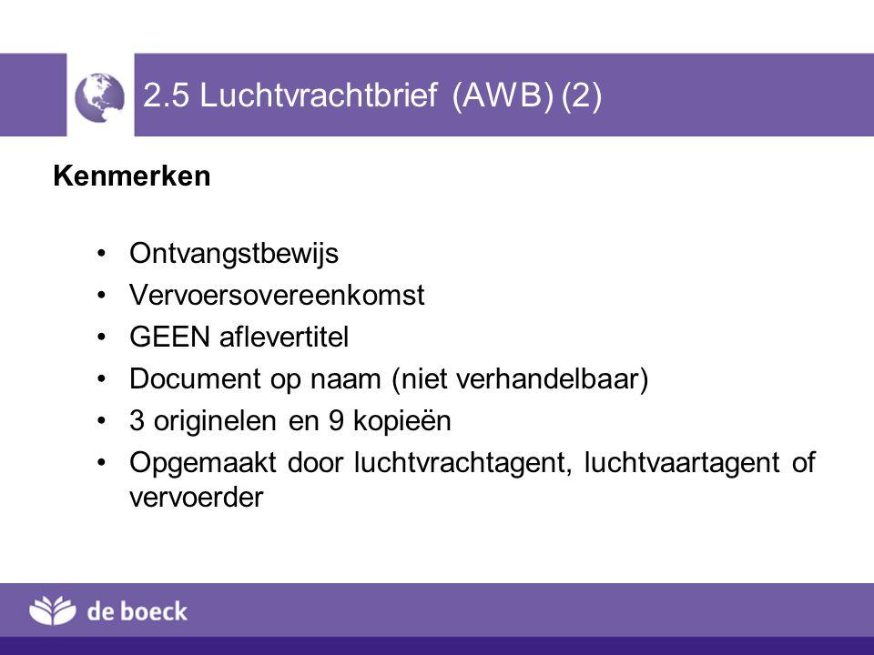 2.5 Luchtvrachtbrief (AWB) (2)