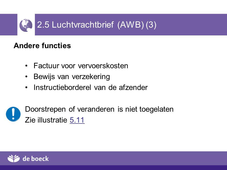 2.5 Luchtvrachtbrief (AWB) (3)