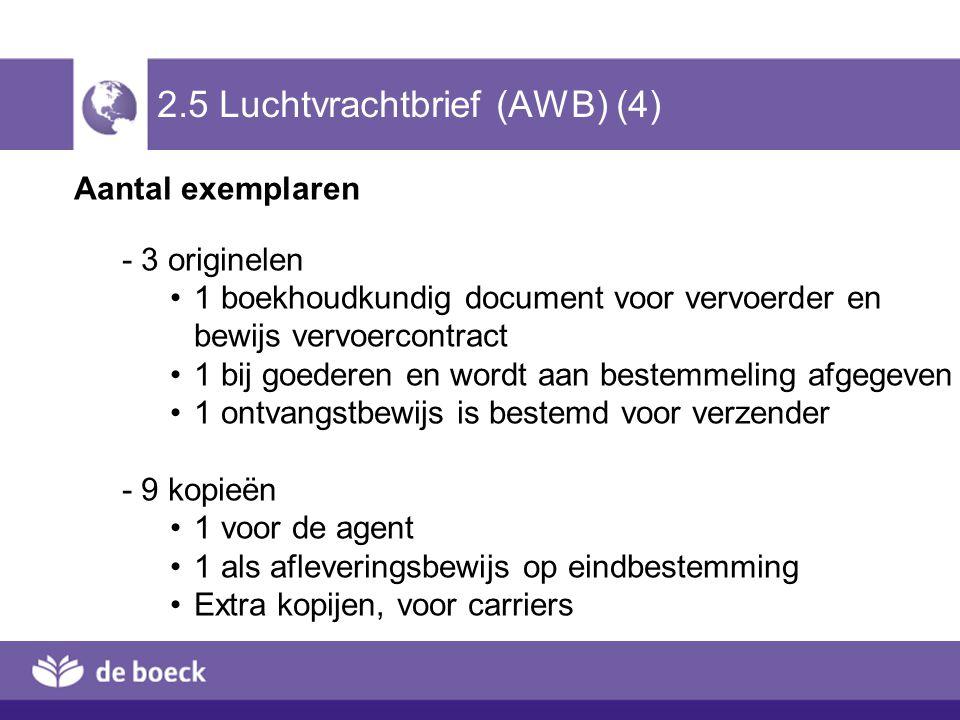 2.5 Luchtvrachtbrief (AWB) (4)