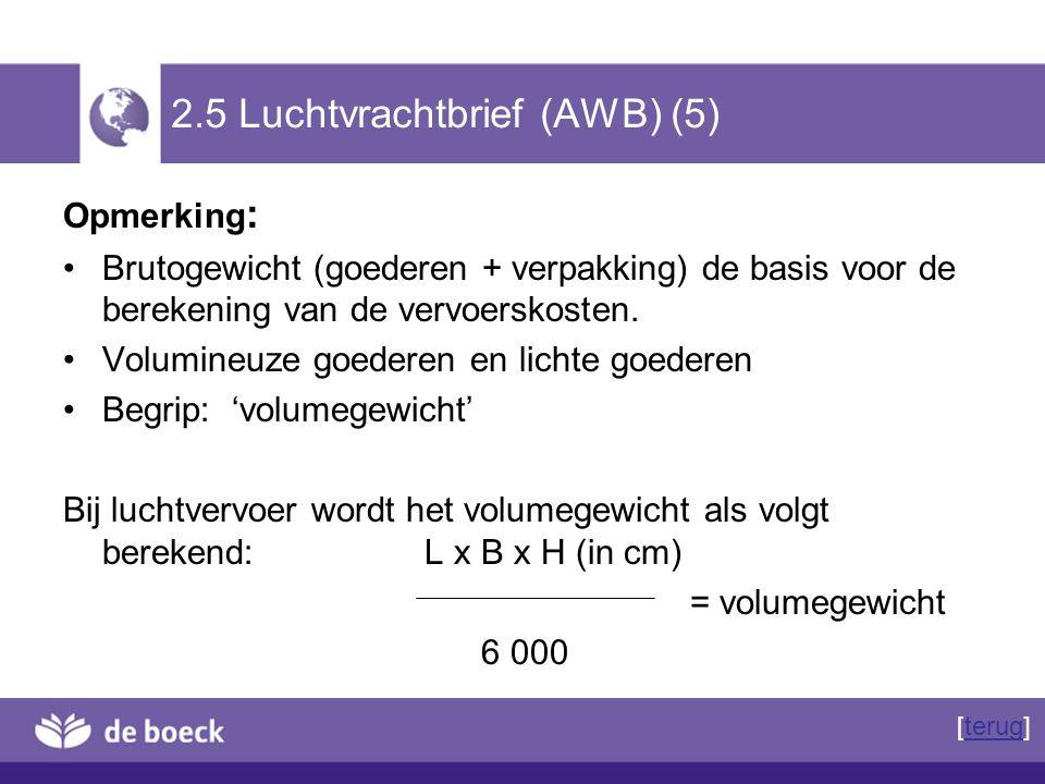 2.5 Luchtvrachtbrief (AWB) (5)