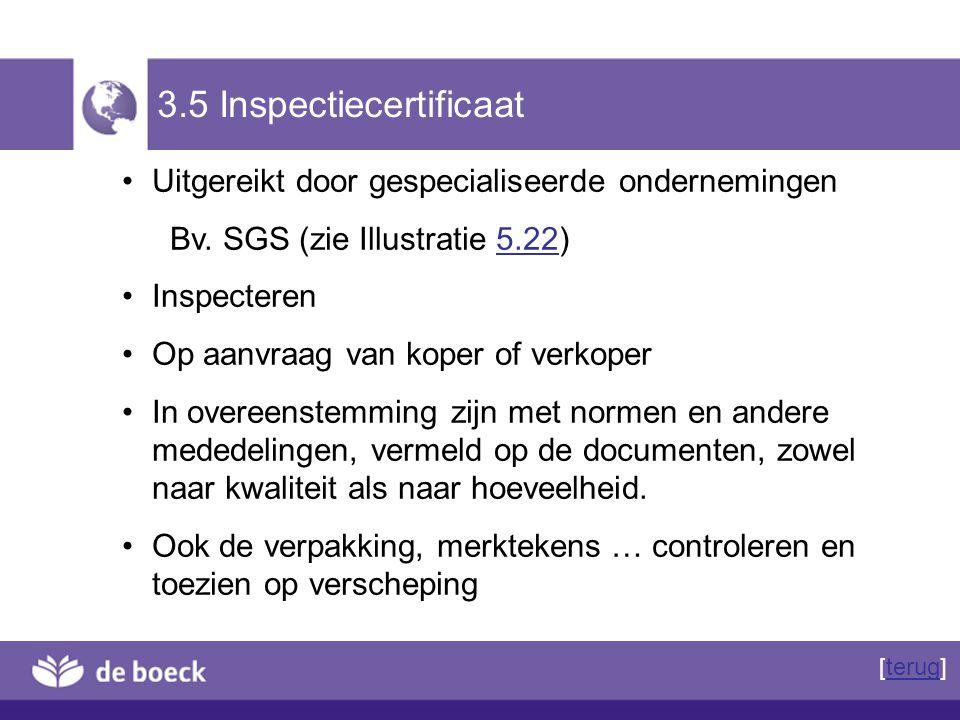 3.5 Inspectiecertificaat