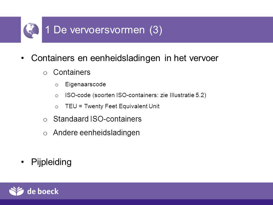 1 De vervoersvormen (3) Containers en eenheidsladingen in het vervoer