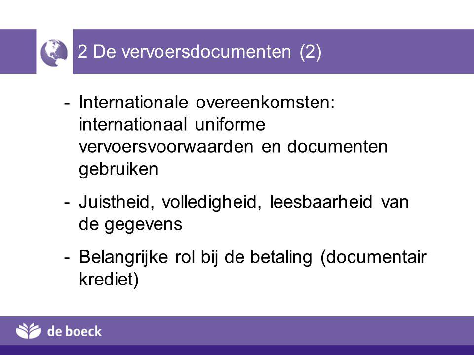 2 De vervoersdocumenten (2)