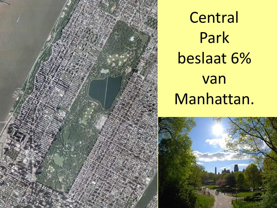 Central Park beslaat 6% van Manhattan.