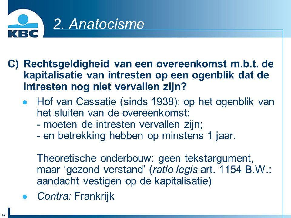 2. Anatocisme