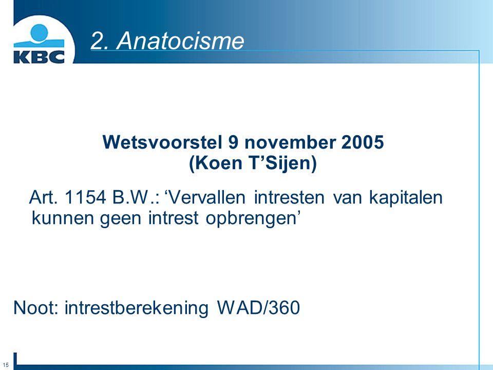 Wetsvoorstel 9 november 2005 (Koen T'Sijen)