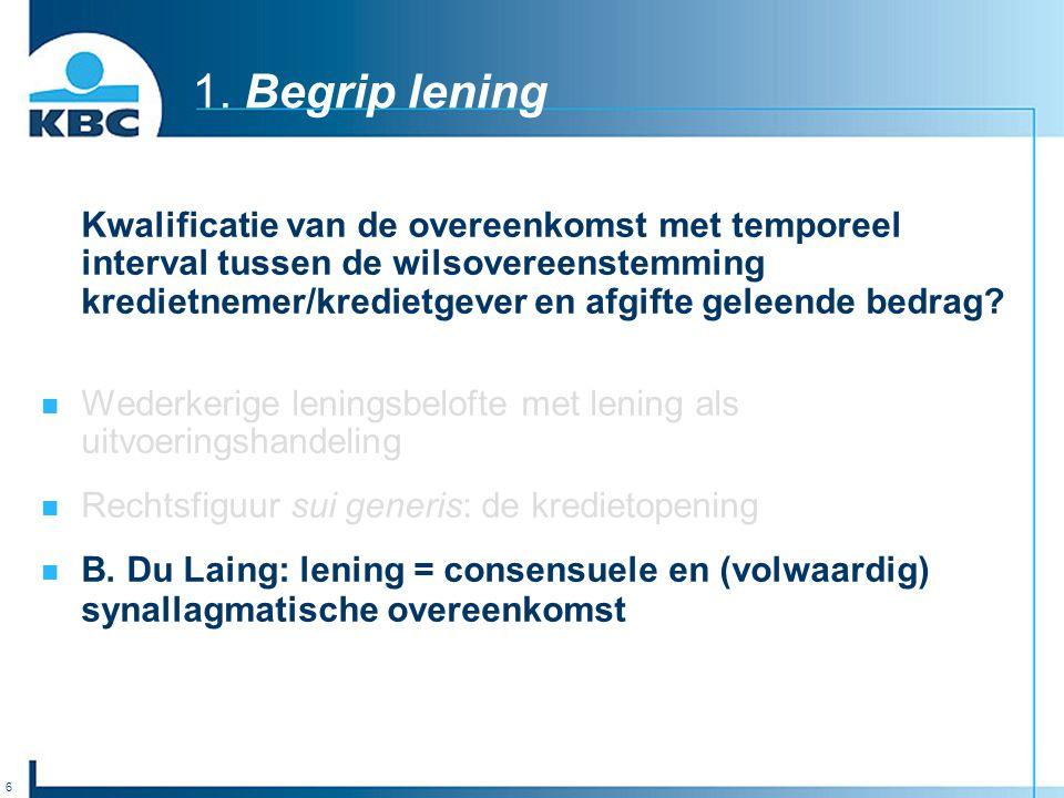 1. Begrip lening