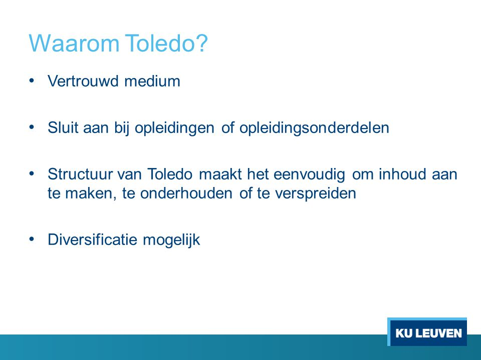 Waarom Toledo Vertrouwd medium