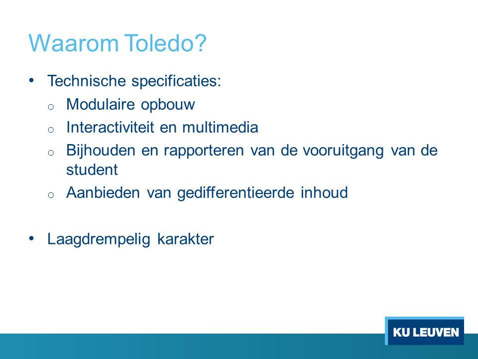 Waarom Toledo Technische specificaties: Modulaire opbouw