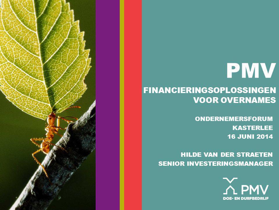 PMV Financieringsoplossingen voor overnames