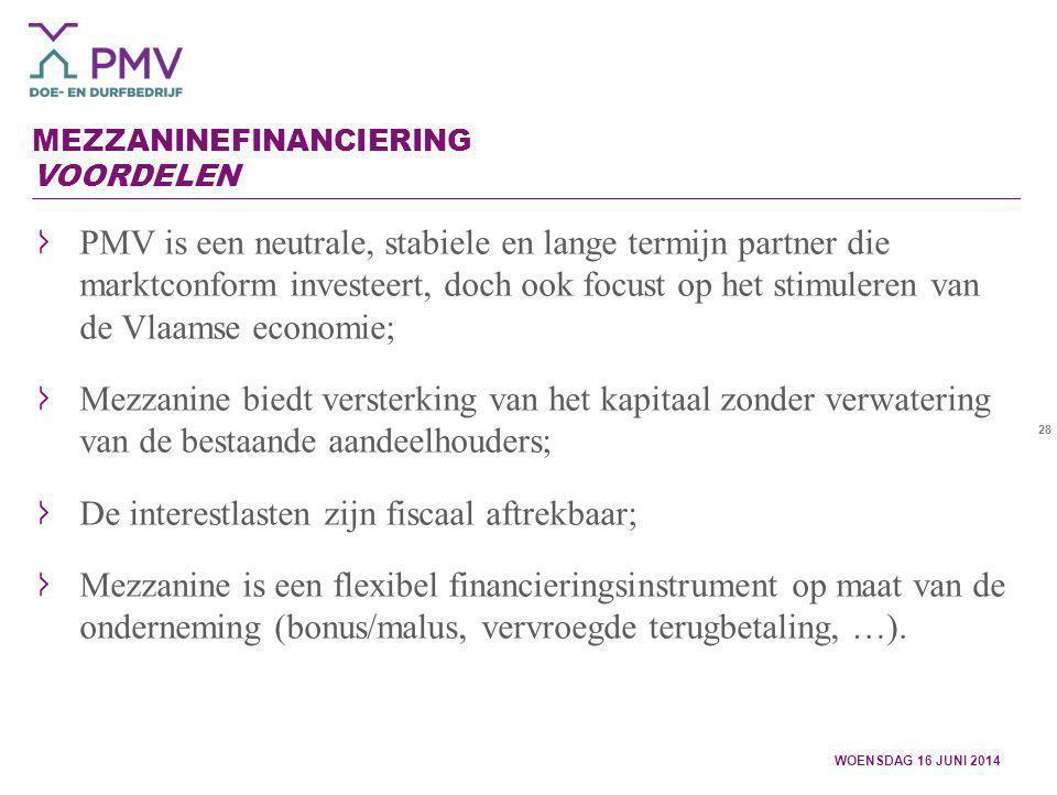 Mezzaninefinanciering Voordelen
