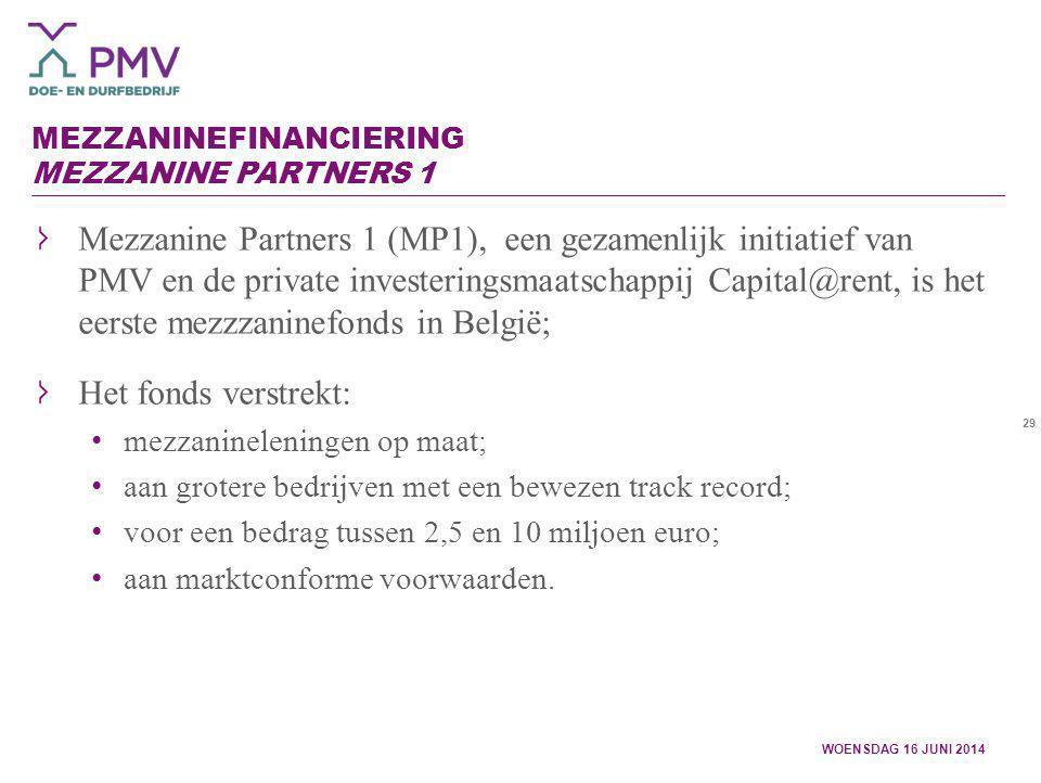 Mezzaninefinanciering Mezzanine Partners 1