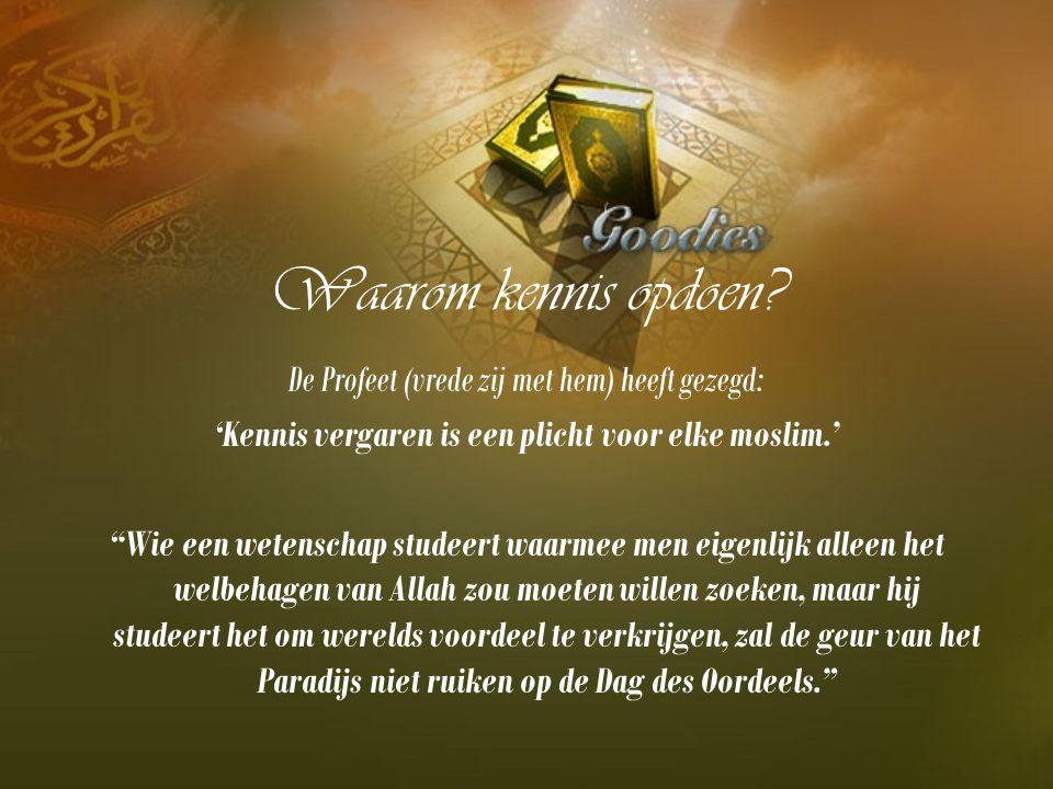 'Kennis vergaren is een plicht voor elke moslim.'