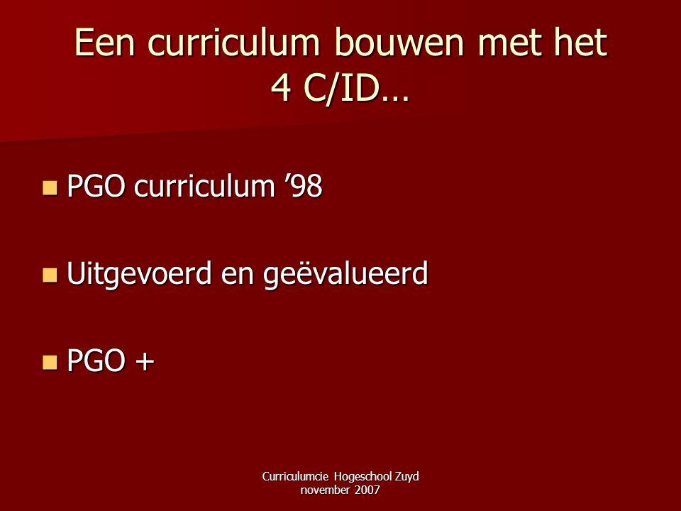 Een curriculum bouwen met het 4 C/ID…