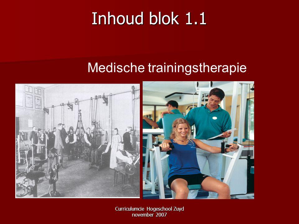 Inhoud blok 1.1 Medische trainingstherapie
