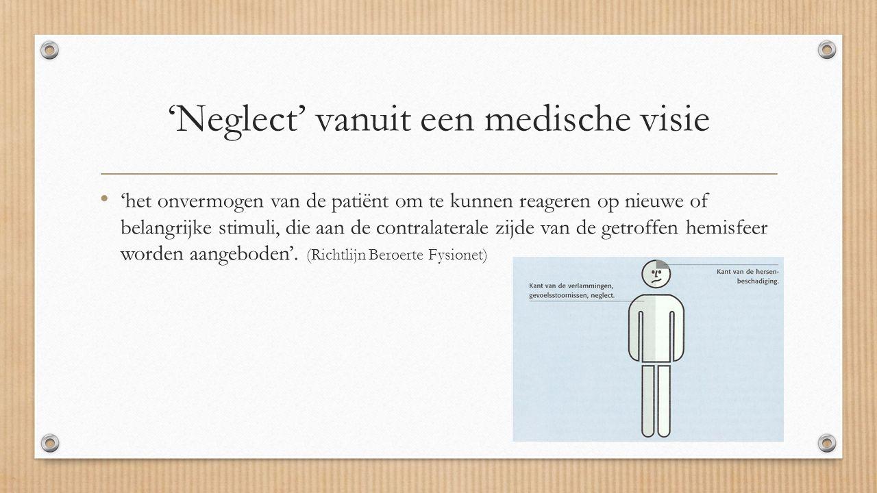 'Neglect' vanuit een medische visie