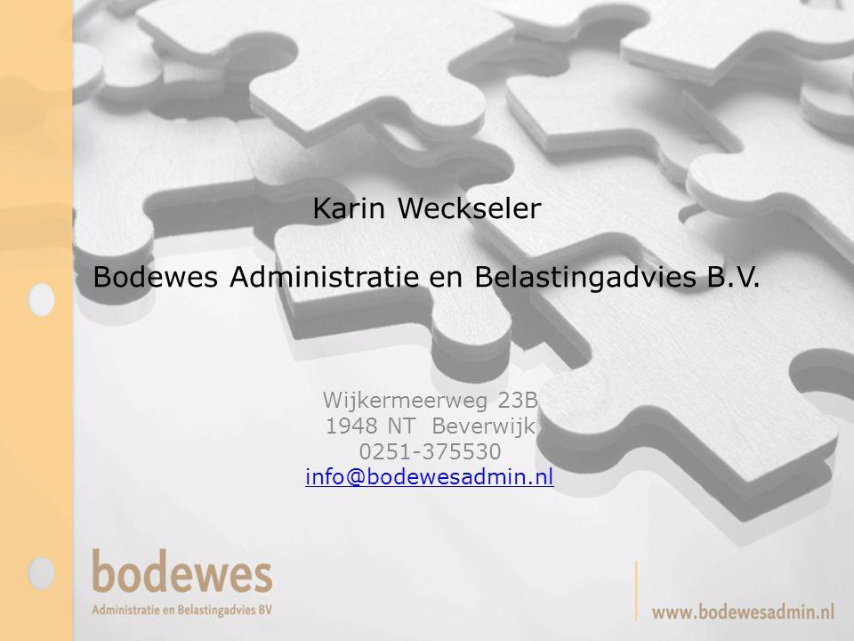 Karin Weckseler Bodewes Administratie en Belastingadvies B.V.