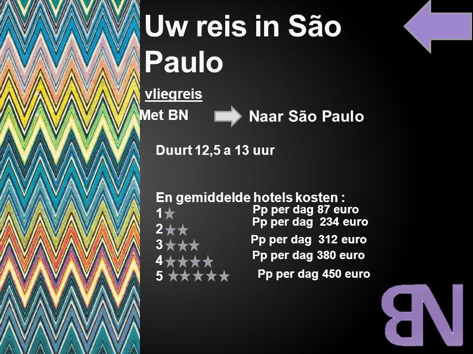 Uw reis in São Paulo Naar São Paulo vliegreis Met BN