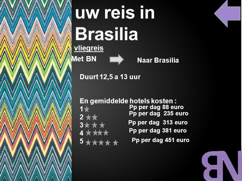 uw reis in Brasilia vliegreis Met BN Naar Brasilia Duurt 12,5 a 13 uur