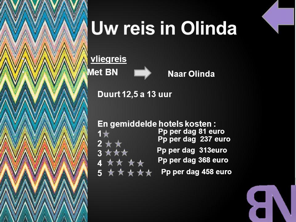 Uw reis in Olinda vliegreis Met BN Naar Olinda Duurt 12,5 a 13 uur
