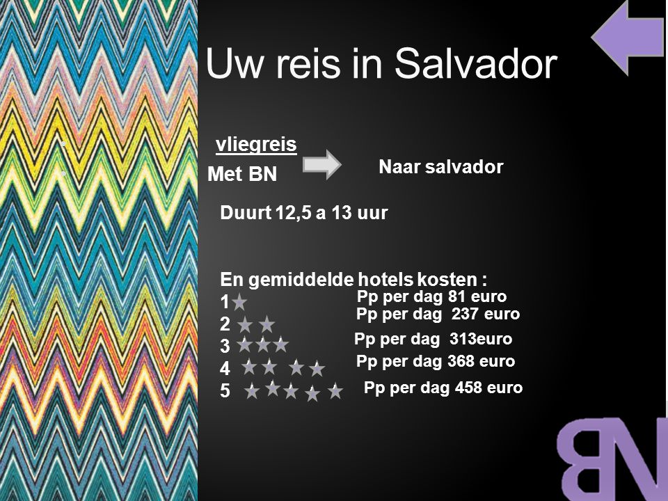 Uw reis in Salvador vliegreis Met BN Naar salvador Duurt 12,5 a 13 uur