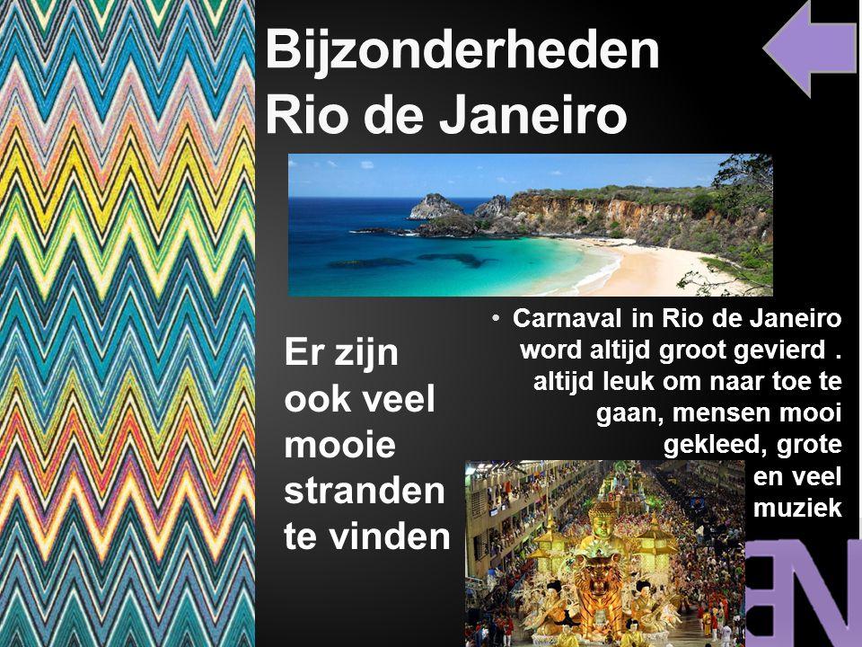 Bijzonderheden Rio de Janeiro