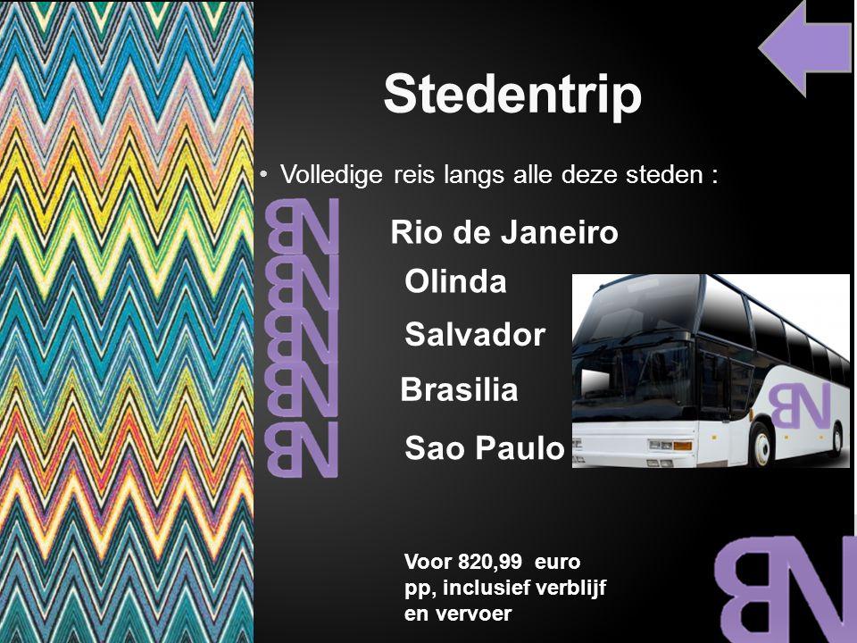 Stedentrip Rio de Janeiro Olinda Salvador Brasilia Sao Paulo