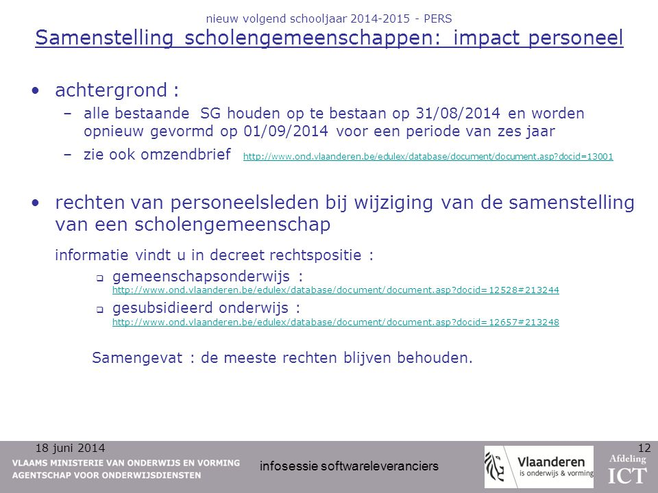 infosessie softwareleveranciers