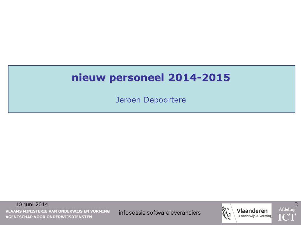 nieuw personeel 2014-2015 Jeroen Depoortere