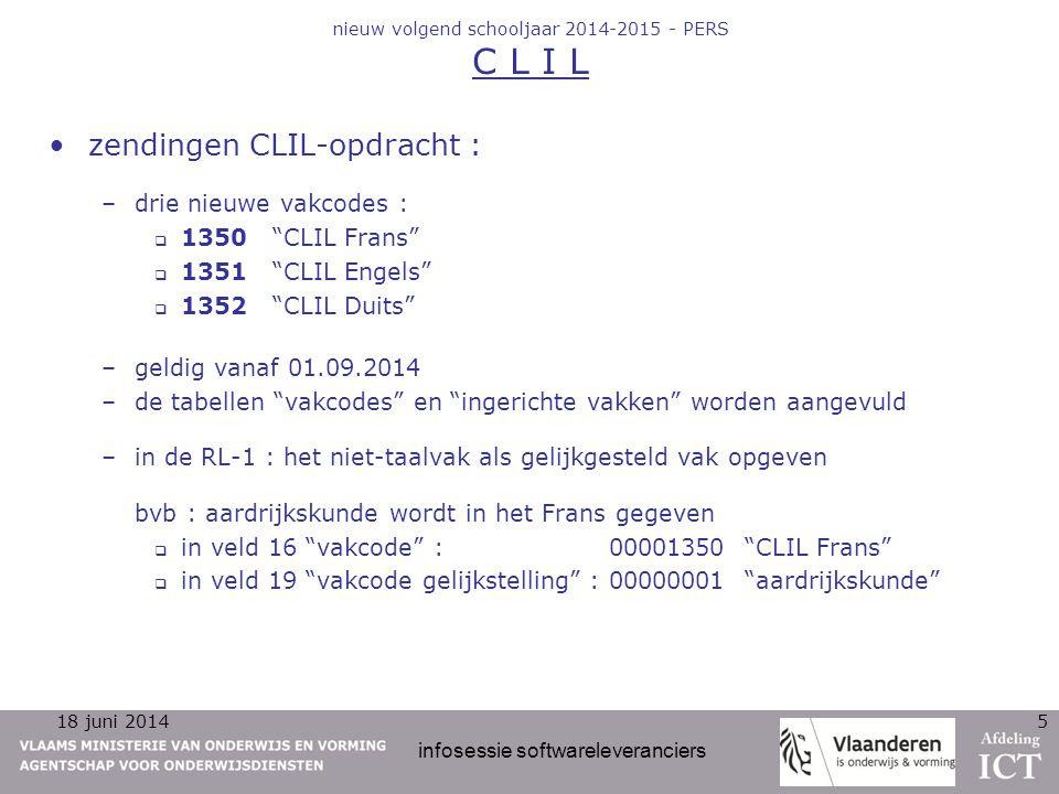nieuw volgend schooljaar 2014-2015 - PERS C L I L