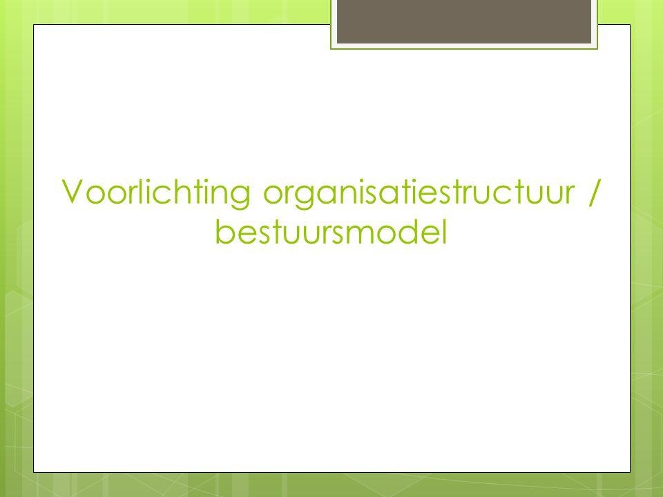 Voorlichting organisatiestructuur / bestuursmodel