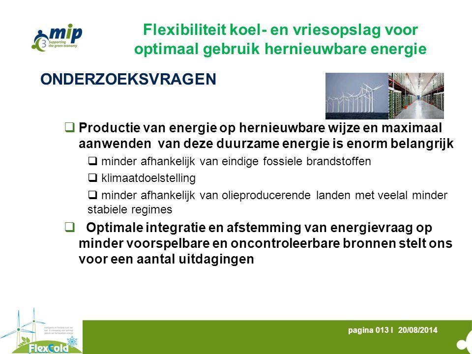 Flexibiliteit koel- en vriesopslag voor optimaal gebruik hernieuwbare energie