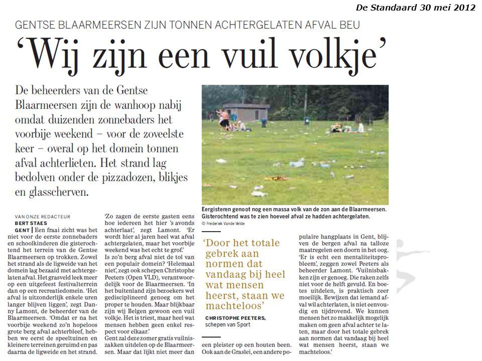 De Standaard 30 mei 2012