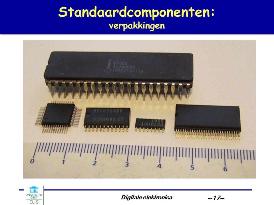 Standaardcomponenten: verpakkingen