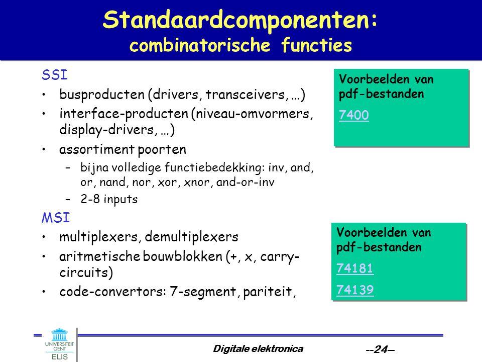 Standaardcomponenten: combinatorische functies