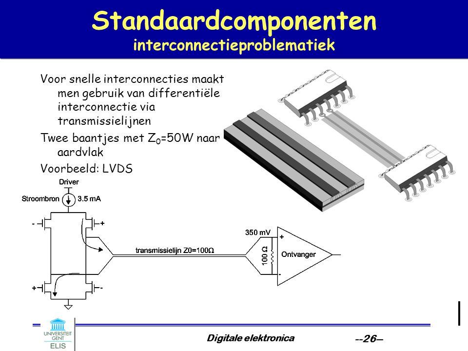 Standaardcomponenten interconnectieproblematiek