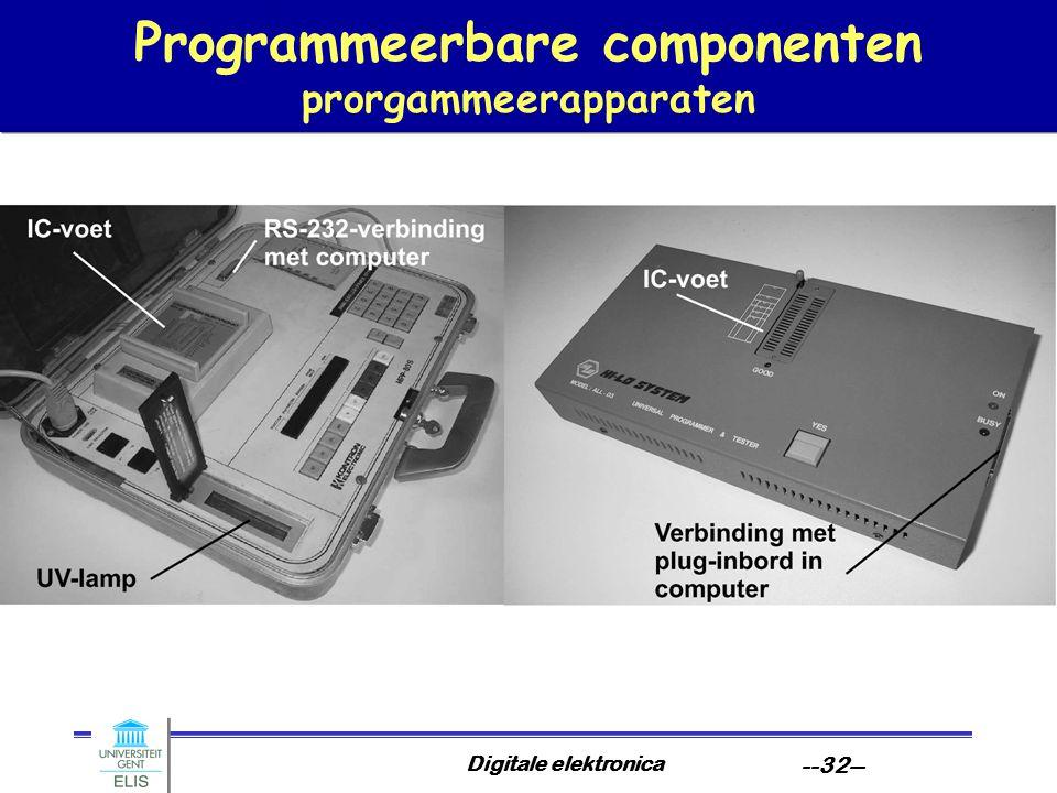 Programmeerbare componenten prorgammeerapparaten