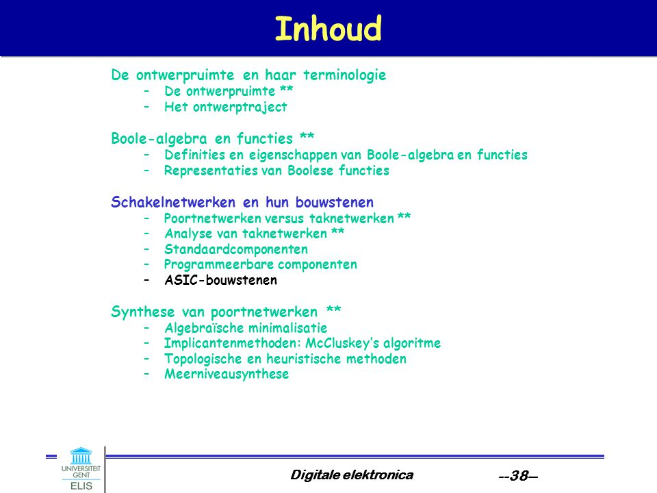 Inhoud De ontwerpruimte en haar terminologie