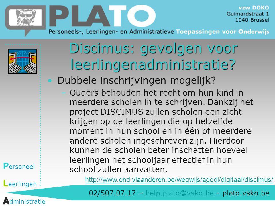 Discimus: gevolgen voor leerlingenadministratie